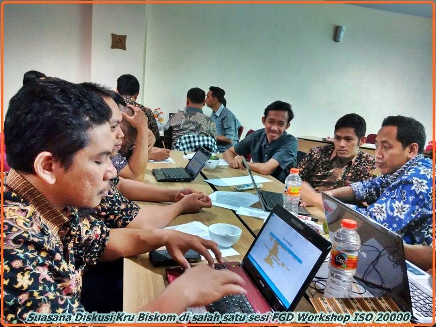 Suasana Diskusi Kru Biskom di salah satu sesi FGD Workshop ISO 20000