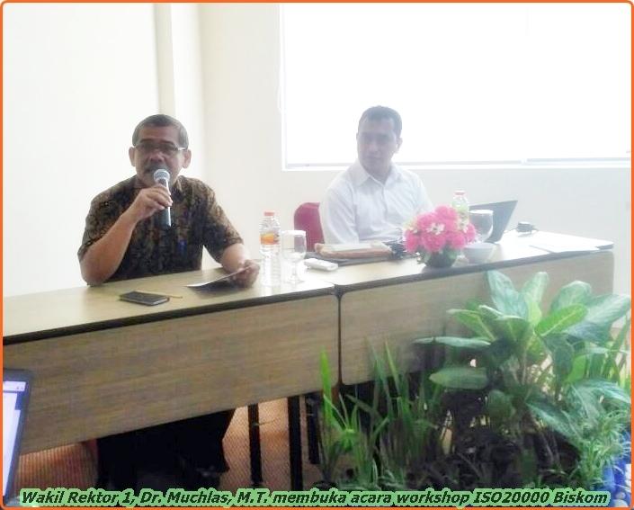 Wakil rektor 1 UAD buka acara workshop ISO 20000 Biskom